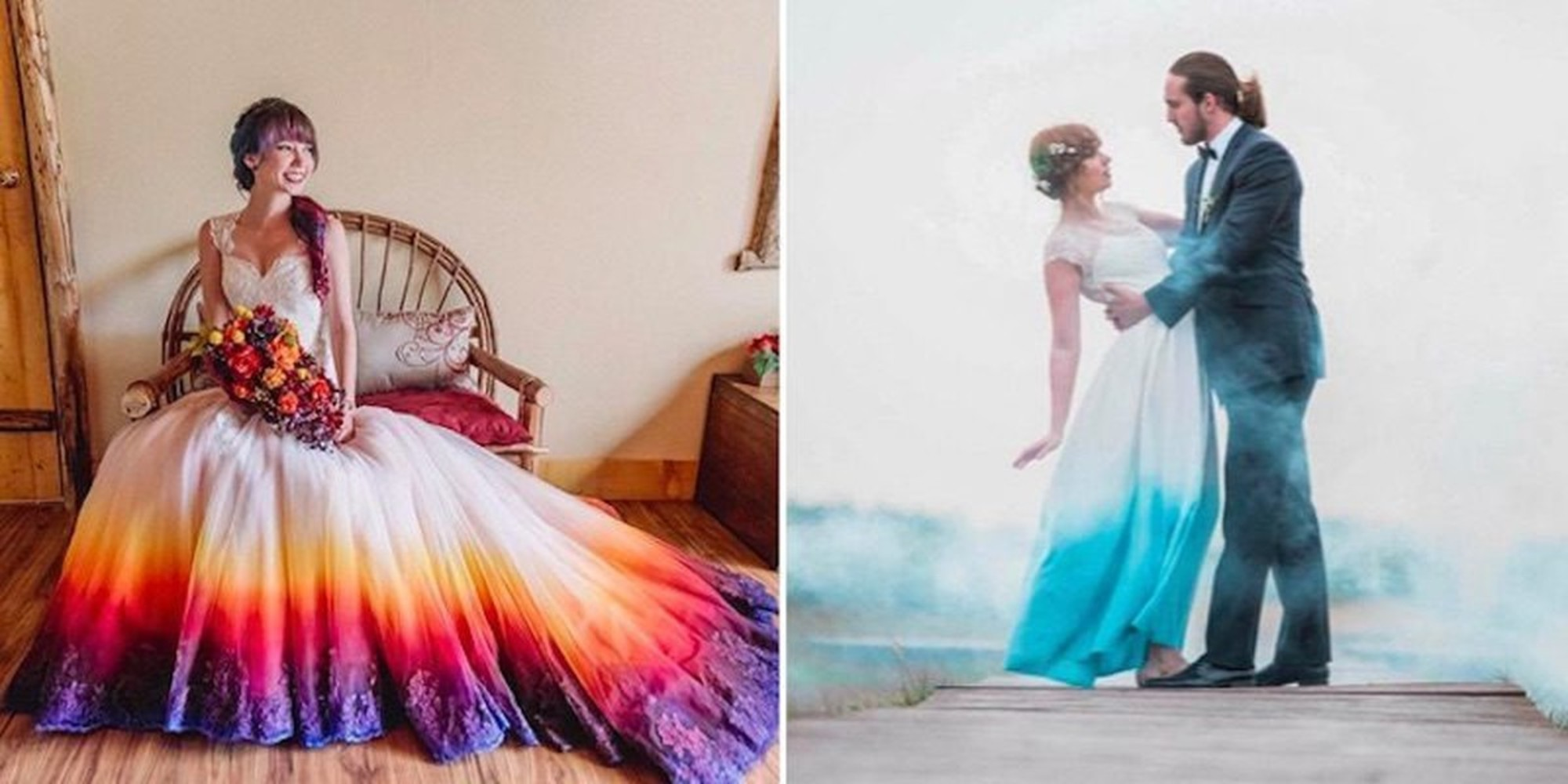 Ombre Dip Dye Wedding Gowns Are The Hottest Trend In Bridal Fashion