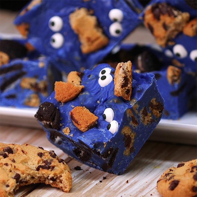 Monster Cookies - Easy Baking for Kids   Fun Halloween Monster Cookies