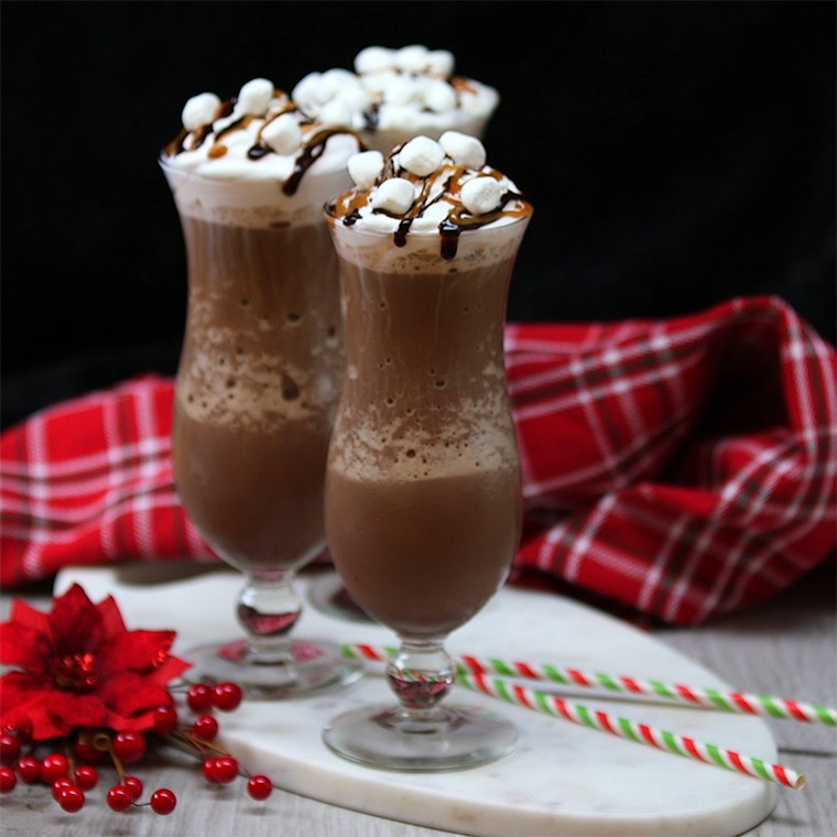 Frozen Salted Caramel Mocha Hot Chocolate Has Everything