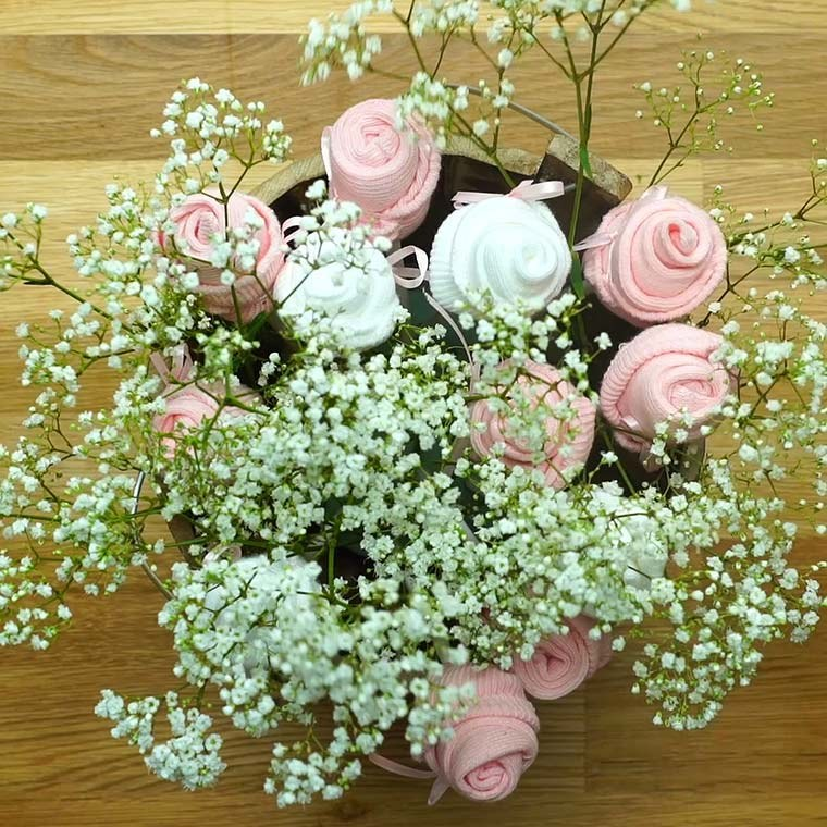 Baby Sock Flower Bouquet Is A Cute And Unique Gift For All ...