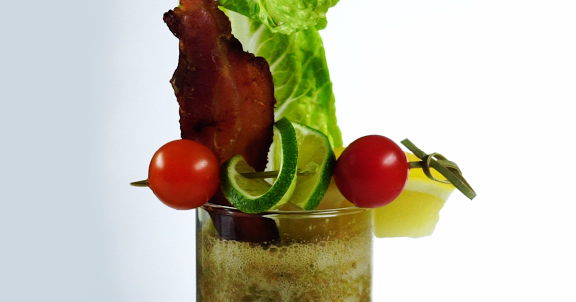You've Never Had A Drink Like This Spicy BLT Green Bloody Mary Before!