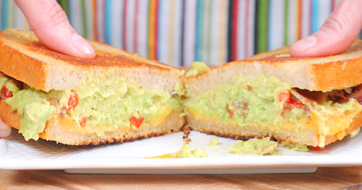 Bacon Guacamole Grilled Cheese Is The Be-All-End-All Of Sandwiches