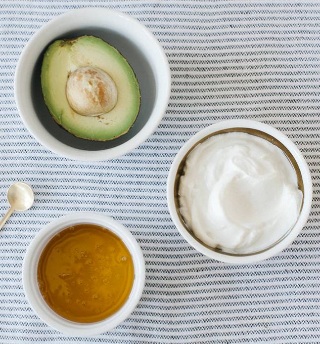 avocado, honey & yogurt face mask