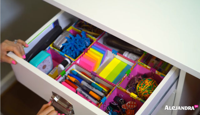 10 easy decluttering tips from the most organized woman in - School desk organization ideas ...