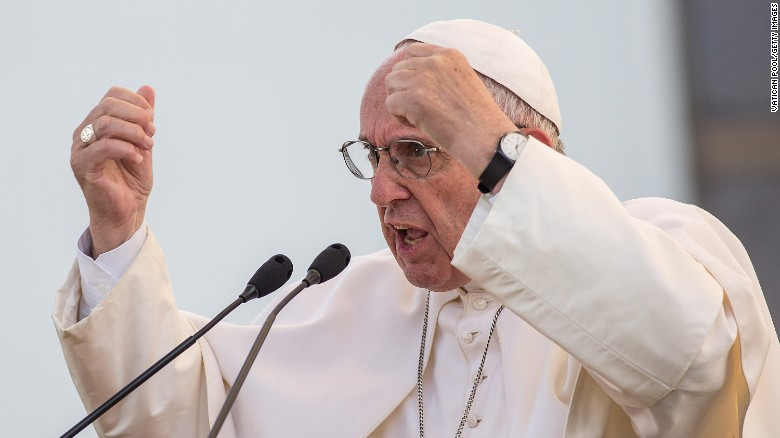 Pope Arms Raised