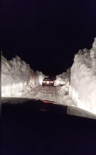 Driving Snow Banks