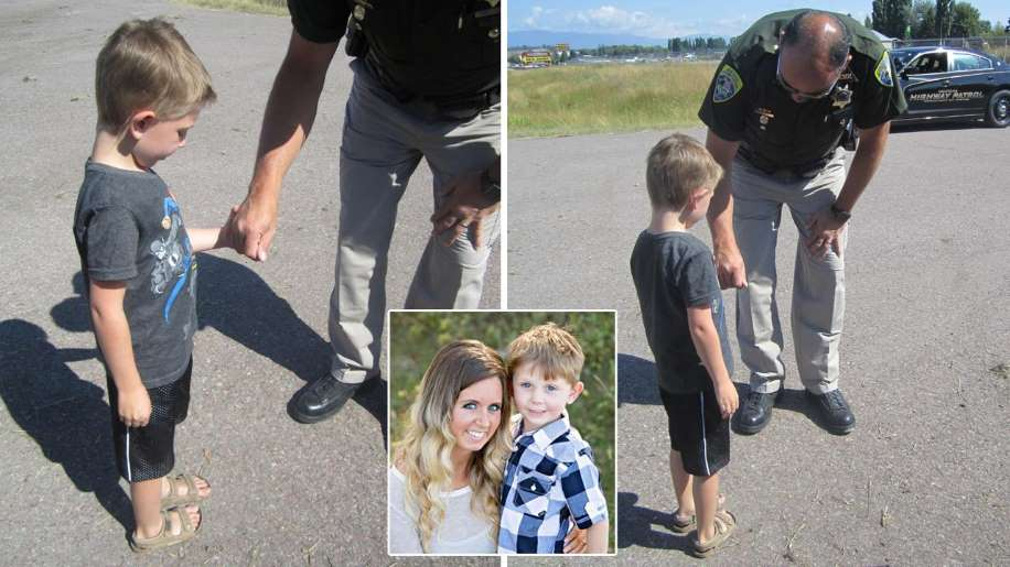 Boy and Cop