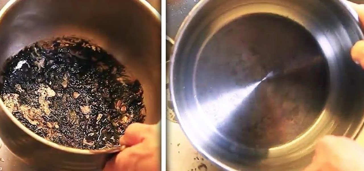 How to get burnt food out of pan