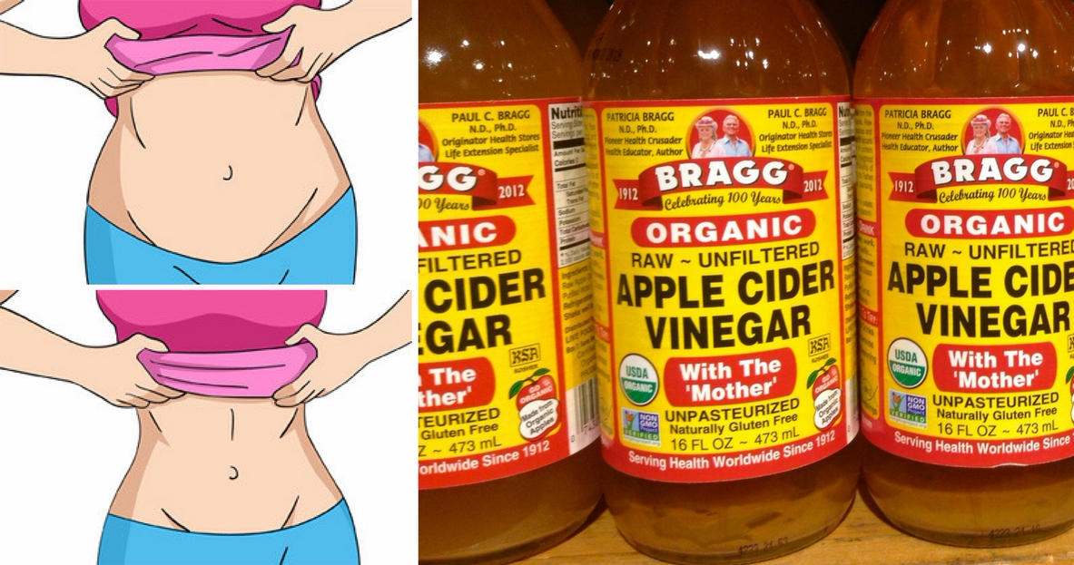 Apple cider vinegar drink before and after