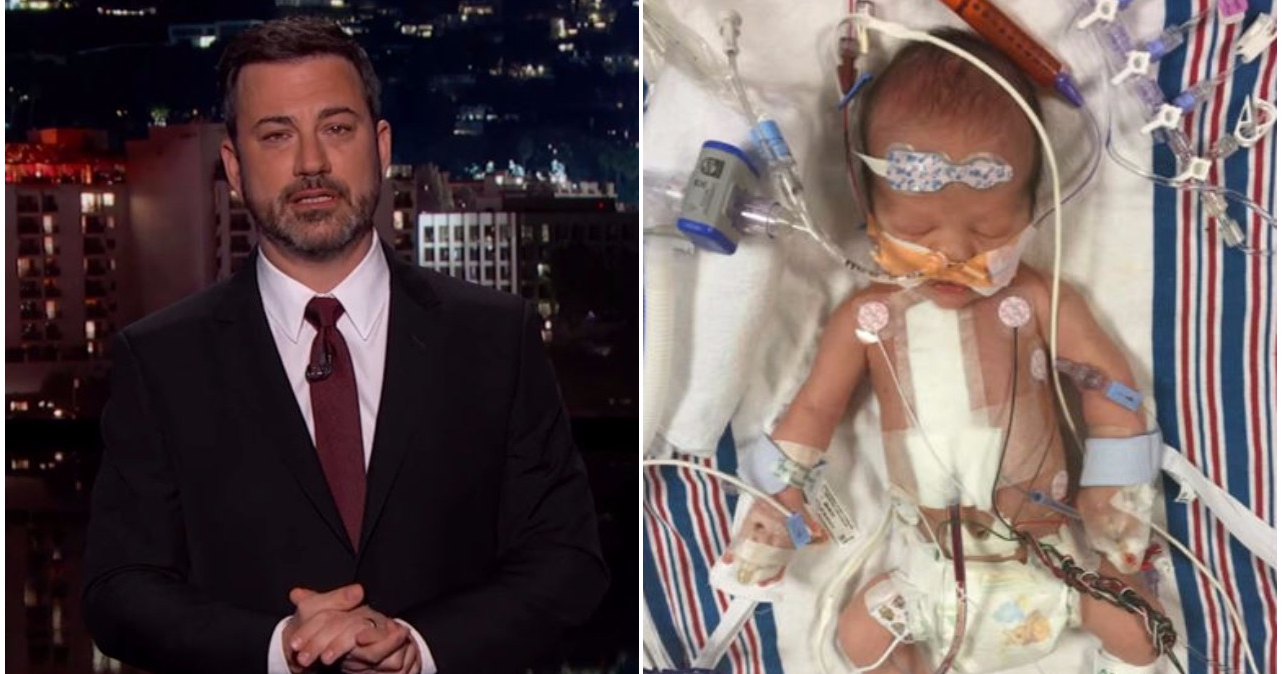 Watch: Jimmy Kimmel Holds Back Tears While Explaining His Son\'s ...