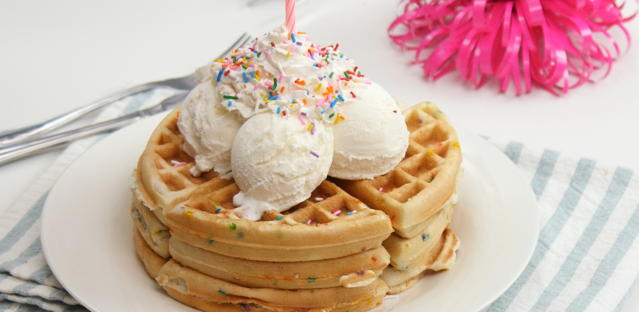 Birthday Cake Waffles Make Every Breakfast A Party