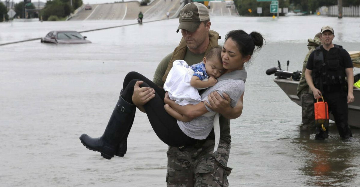 These Are The Real American Heroes Saving Hurricane Harvey Survivors In Texas
