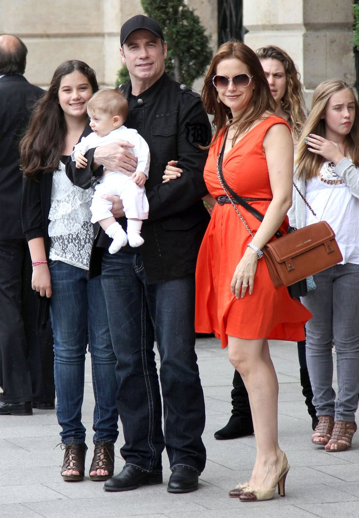 Kelly Preston and family