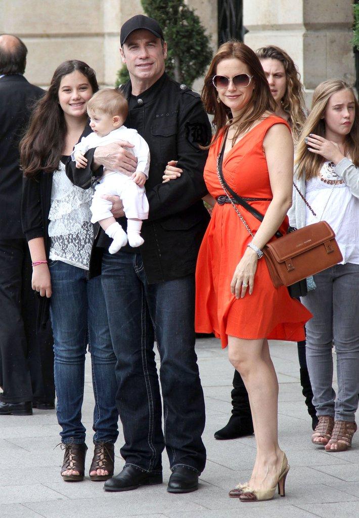 Kelly Preston and family