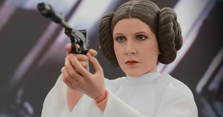 Carrie Fisher as 'Princess Leia' in Star Wars
