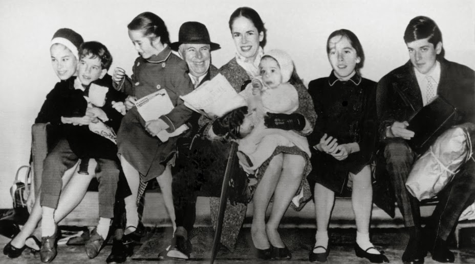 Charlie Chaplin and his children