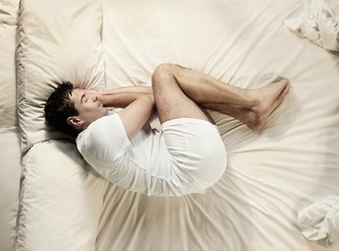 Image result for Sleeping in the fetal position
