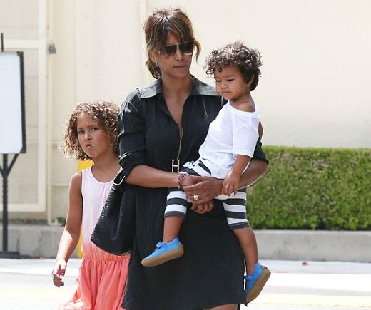 Halle Berry with children