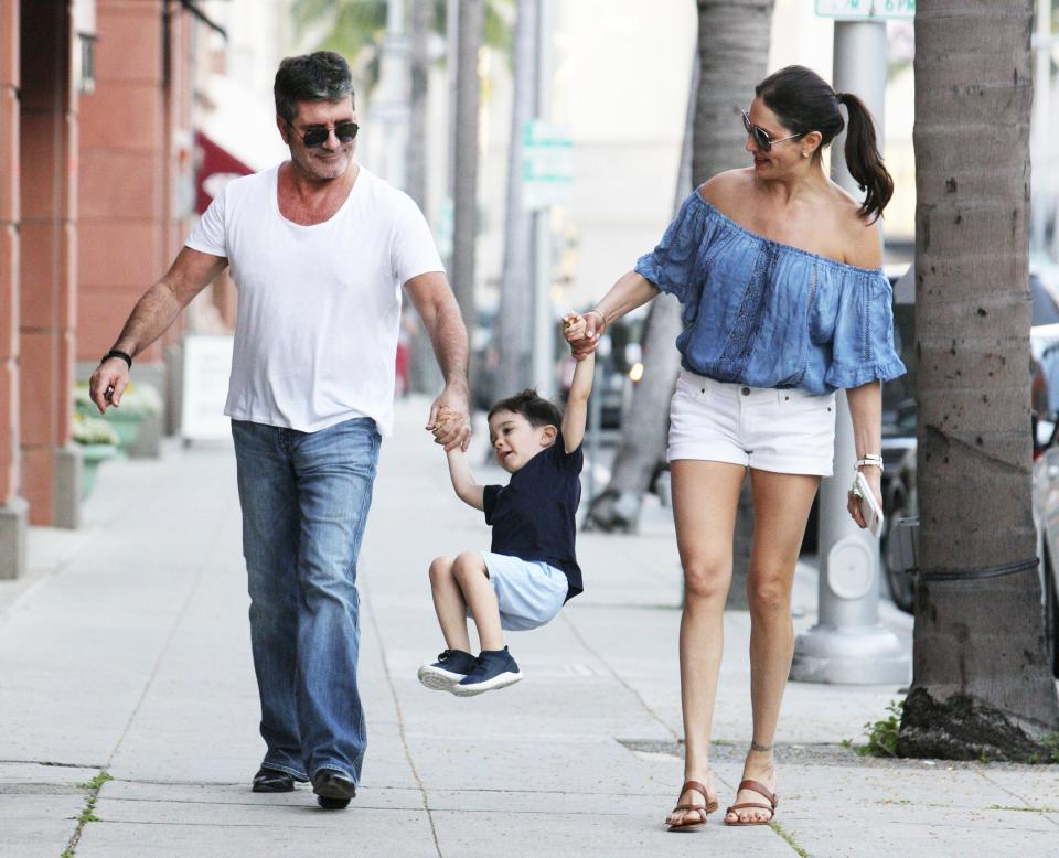 Simon Cowell with family