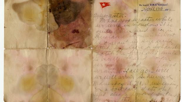 Letter written on the Titanic