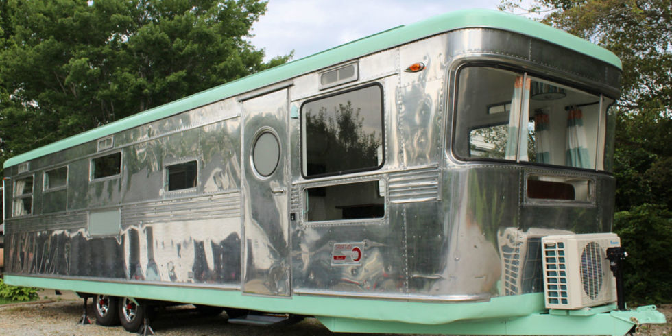 Woman Transforms 1950s Trailer Into Spectacular Tiny Home