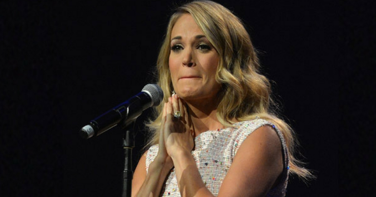 Carrie underwood hospitalized with multiple injuries after Carrie underwood softly and tenderly