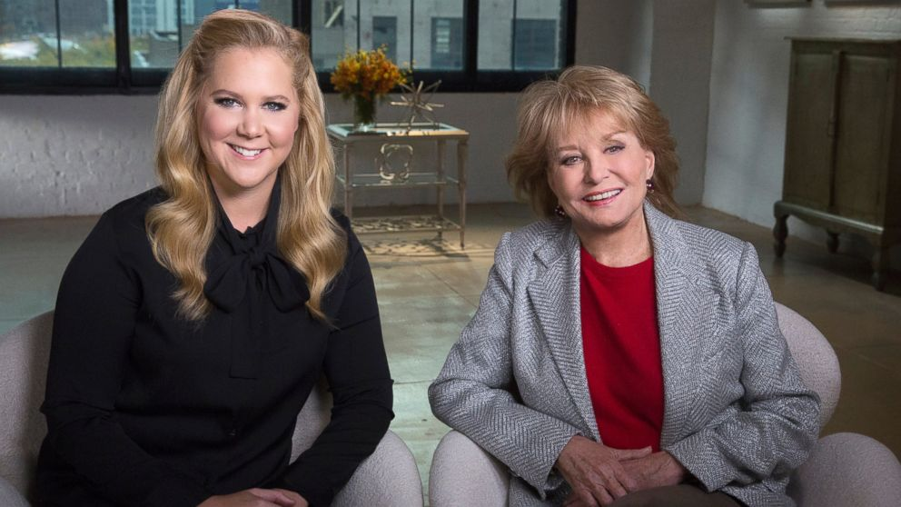 Amy Schumer and Barbara Walters