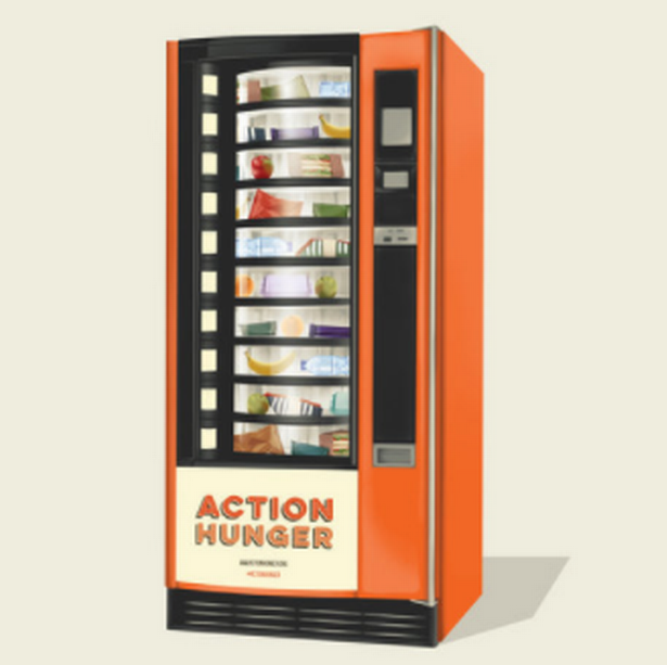 Action Hunger's vending machine