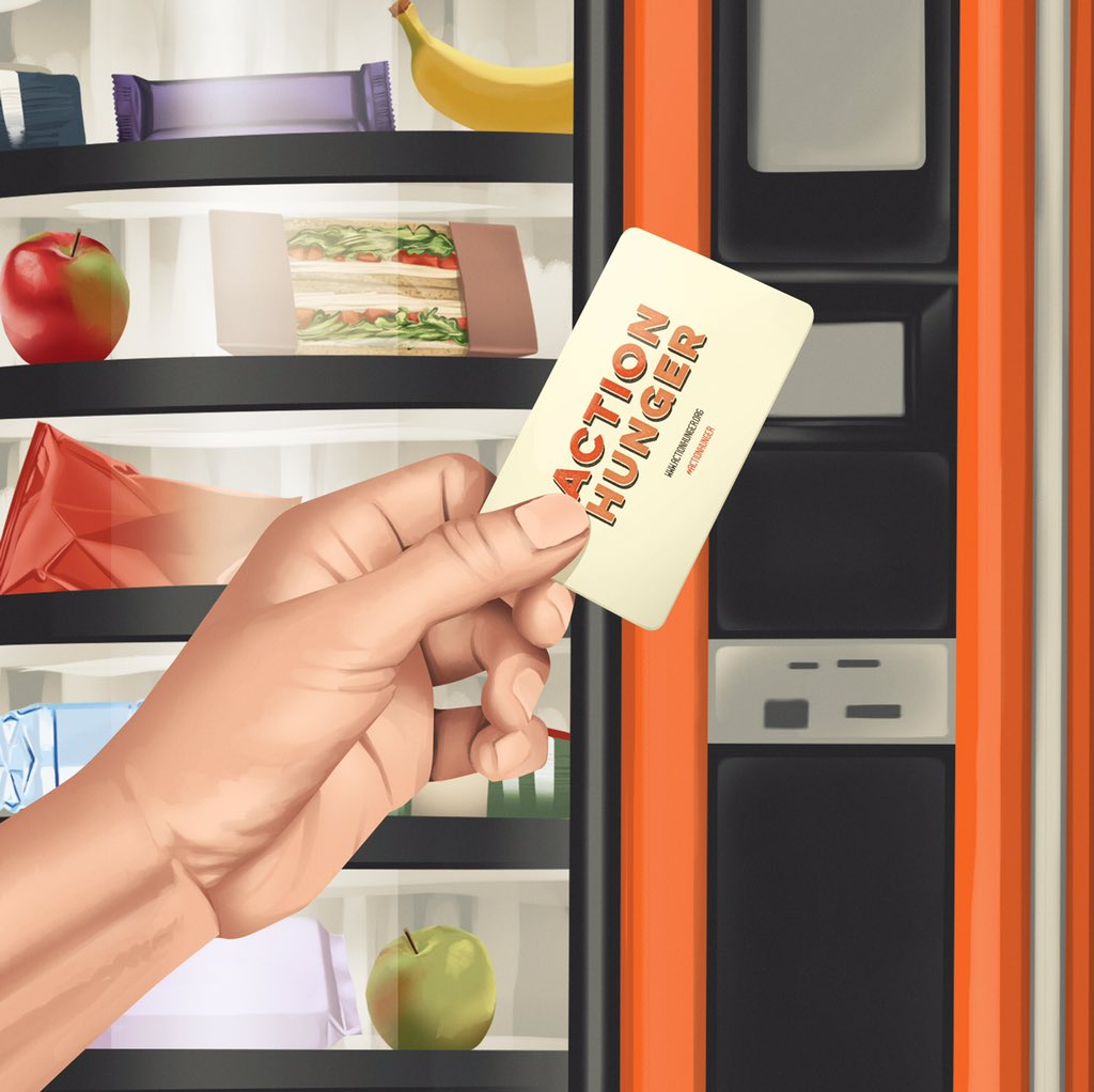 Action Hunger chip card