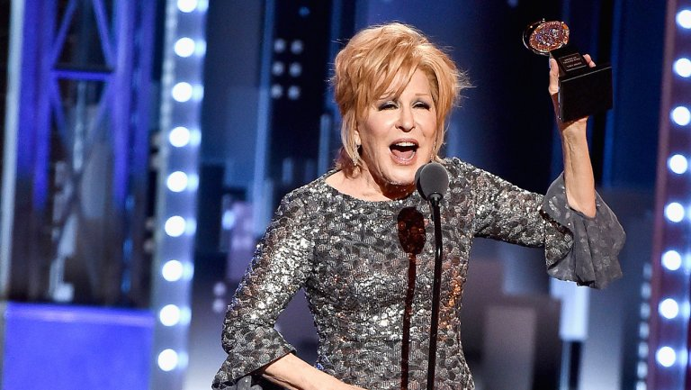 Bette Midler and her Tony Award