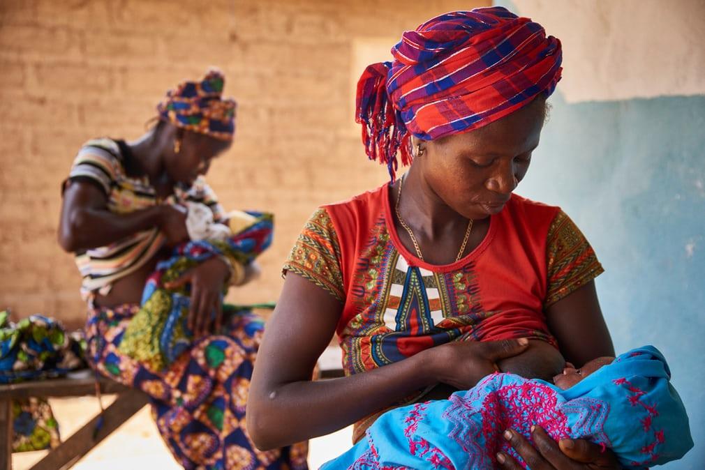 Mother breastfeeding in Sierra Leone