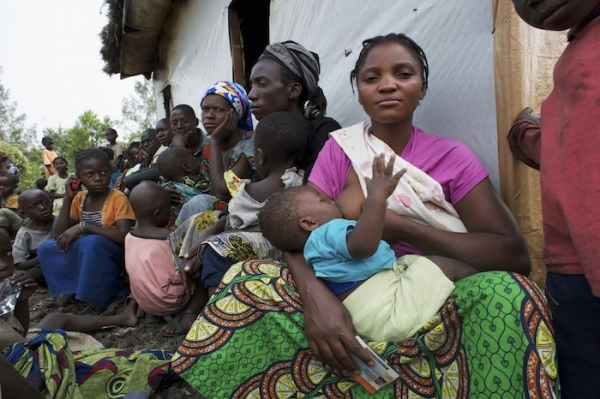 Woman breastfeeding her baby in Malawi