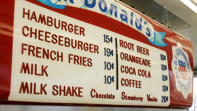 The first McDonald's sign