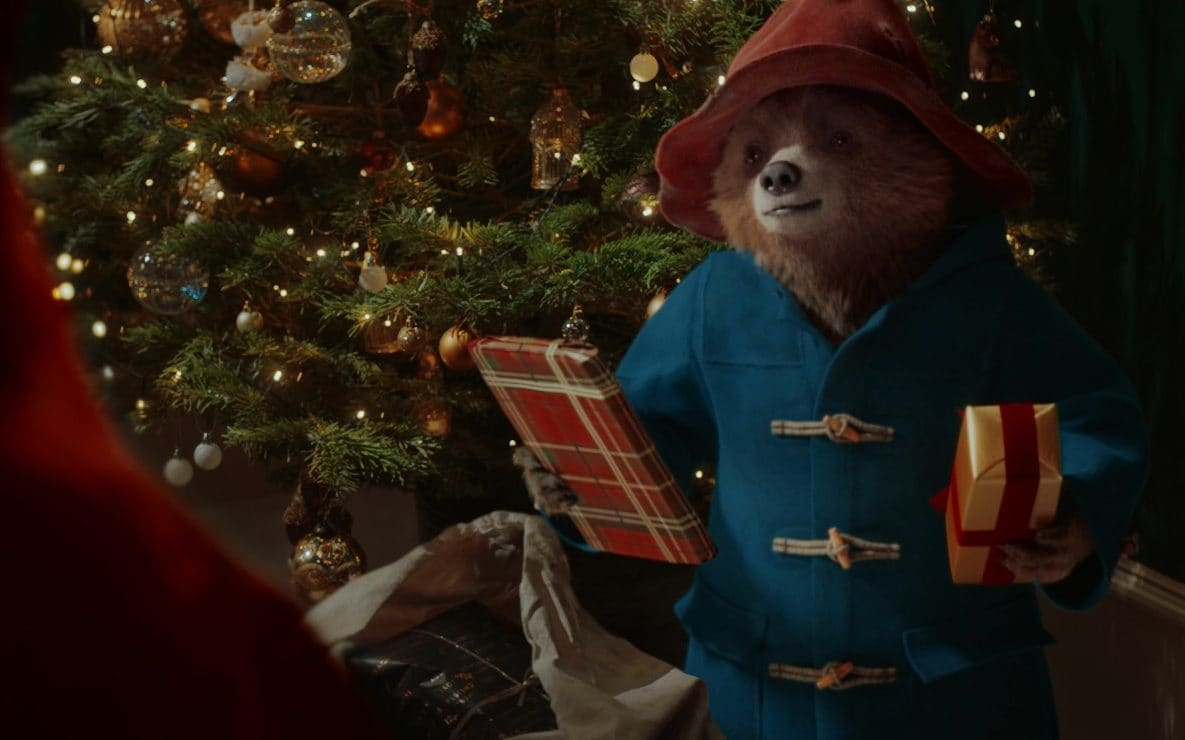 Paddington Bear delivering presents