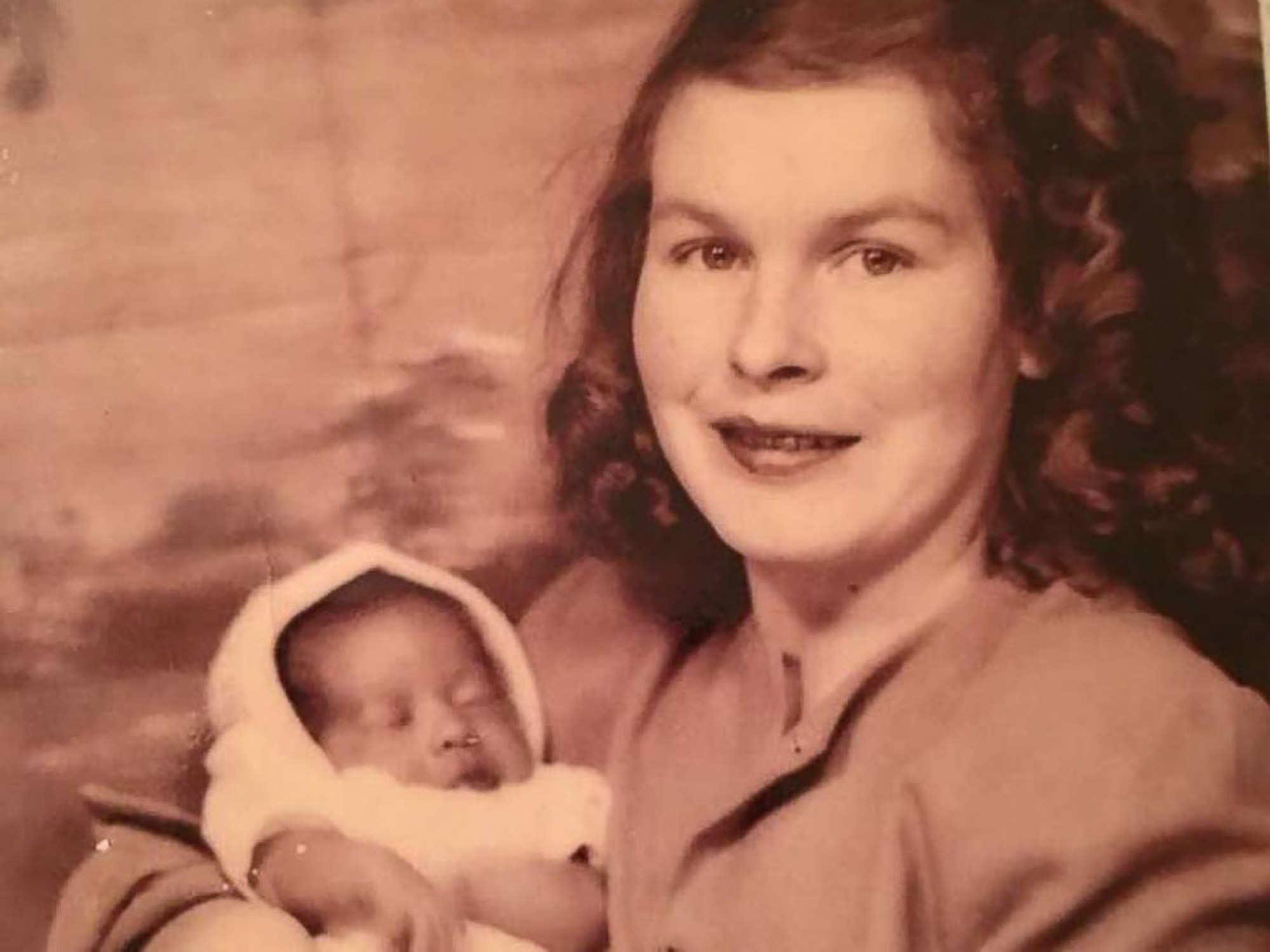 Sylvia Kewer with her birth mother