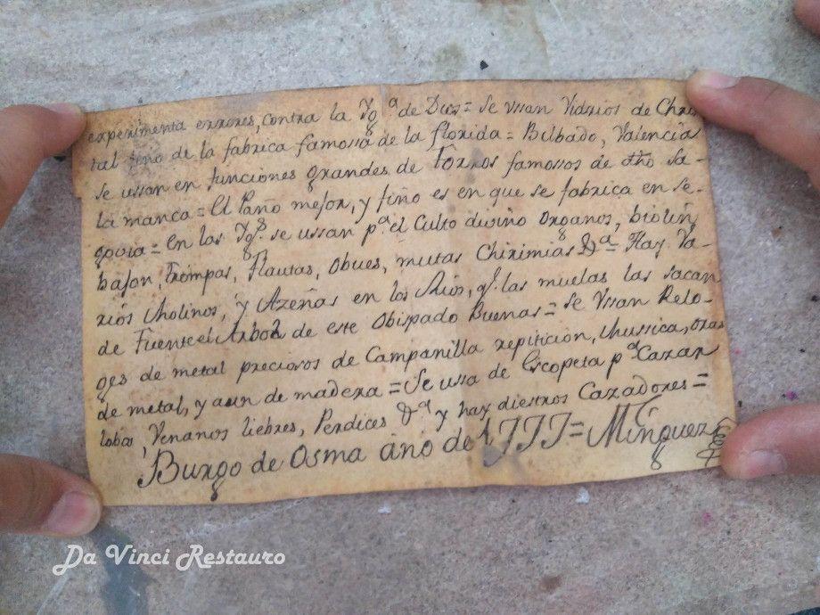 The handwritten document