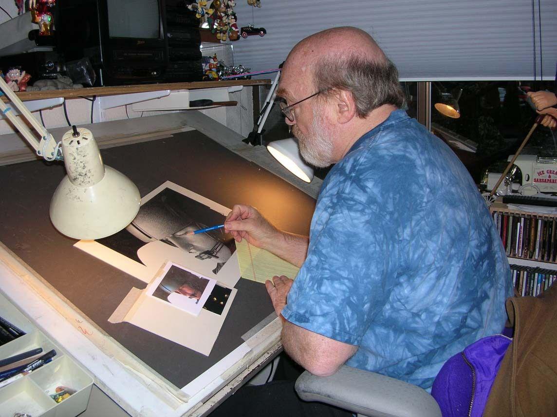 Michael Reagan in his studio