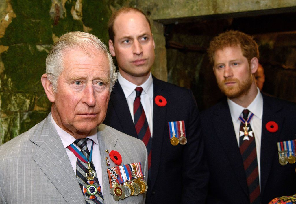 Prince Charles, William, and Harry