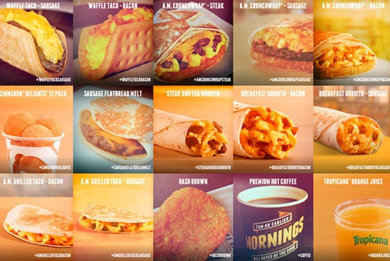 Taco bell prices