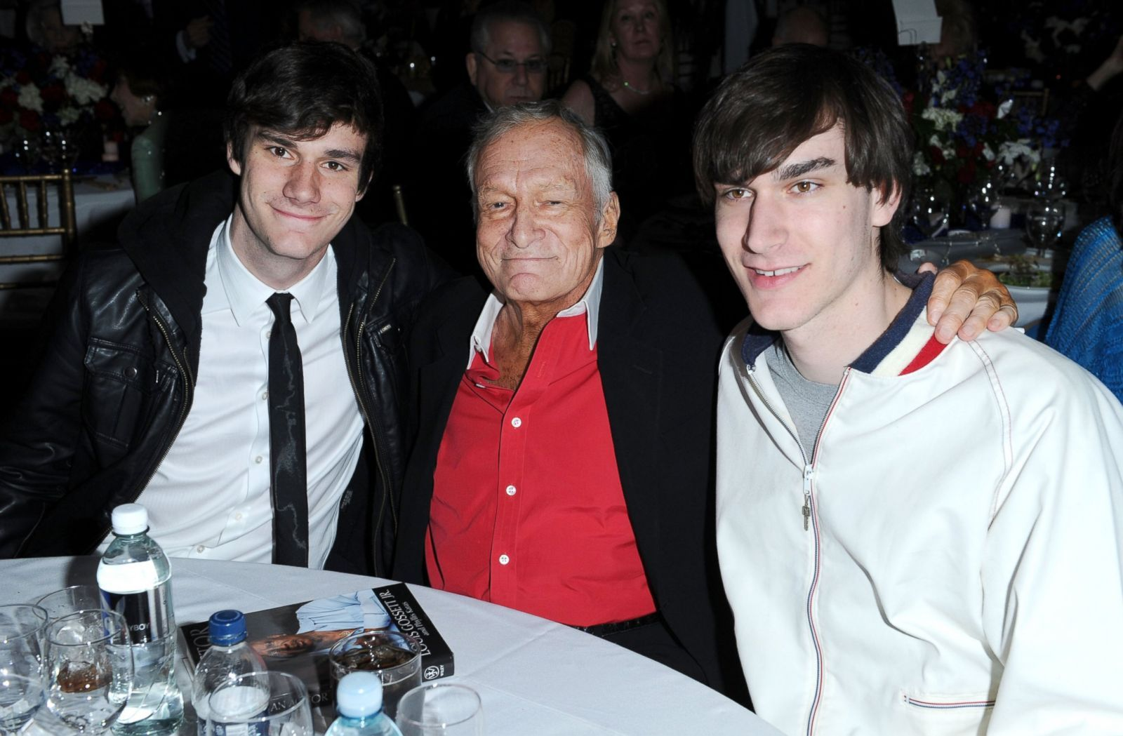 Hugh Hefner and his sons
