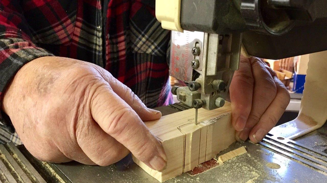 John Volz making his toys