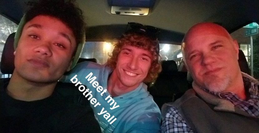 Graham with his biological father and parental half brother