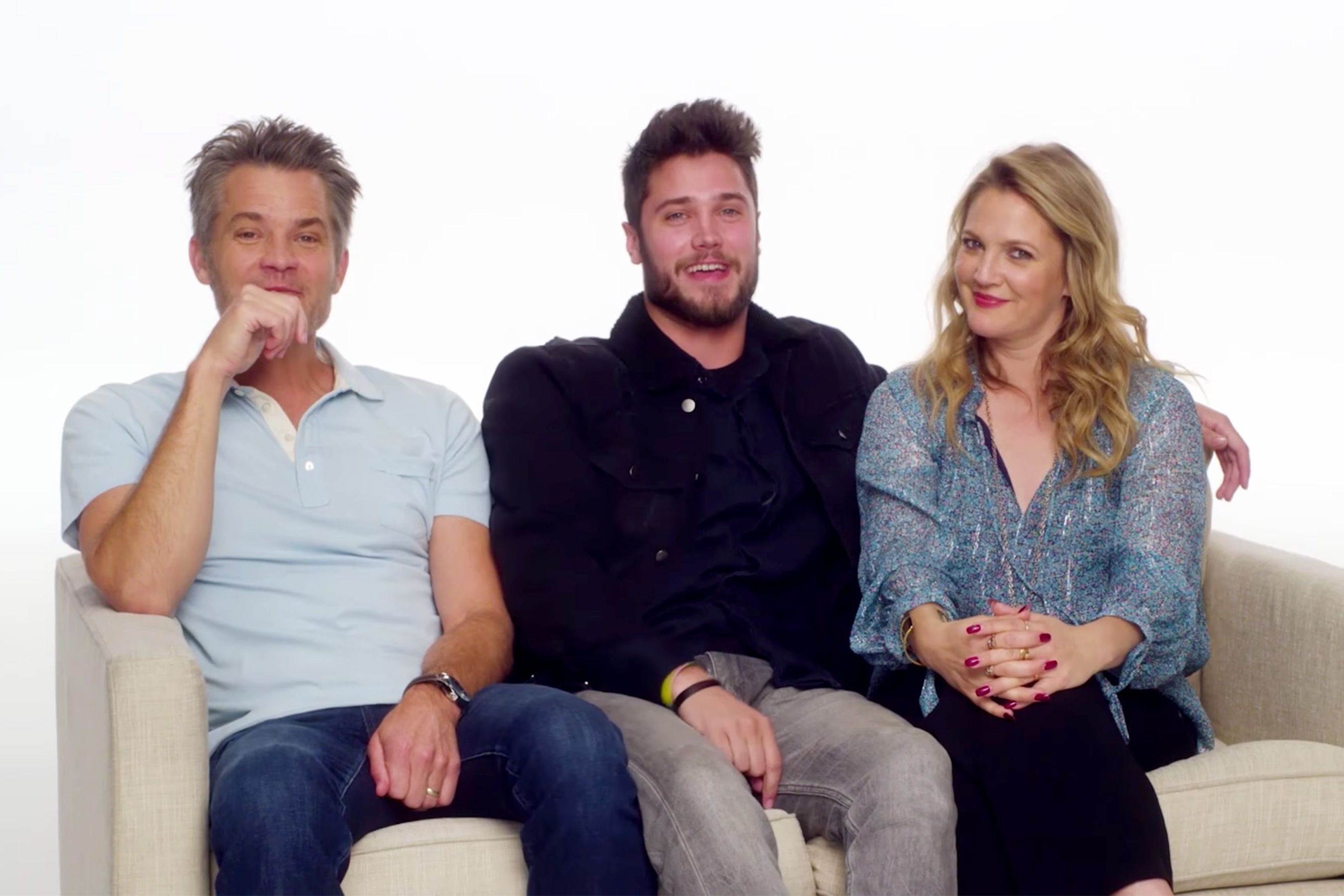 Conor,  Drew Barrymore and Timothy Olyphant