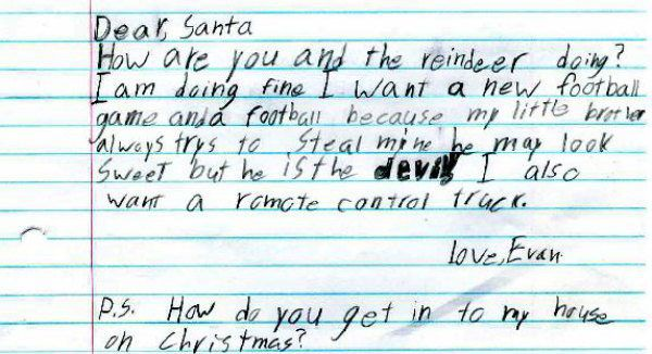 15 letters from santa that definitely put kids on his naughty list 1 he may look sweet but he is the devil spiritdancerdesigns Images