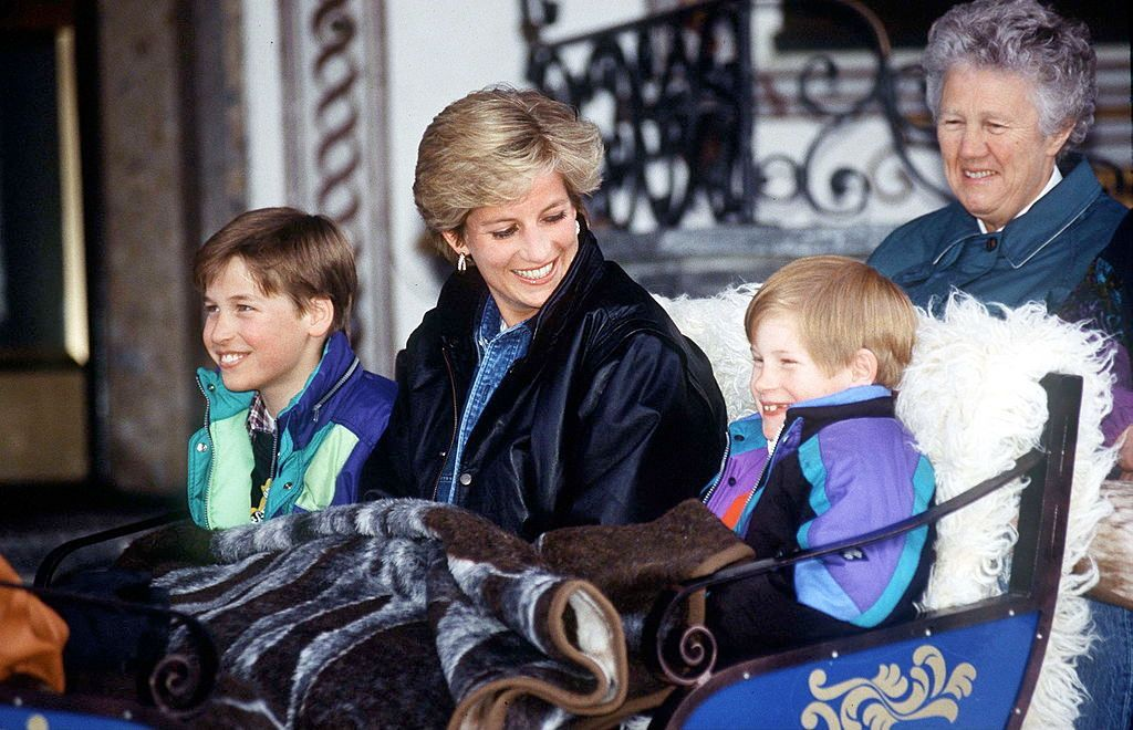 Princess Diana and her sons