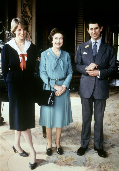 Queen Elizabeth II, Prince Charles, and Princess Diana