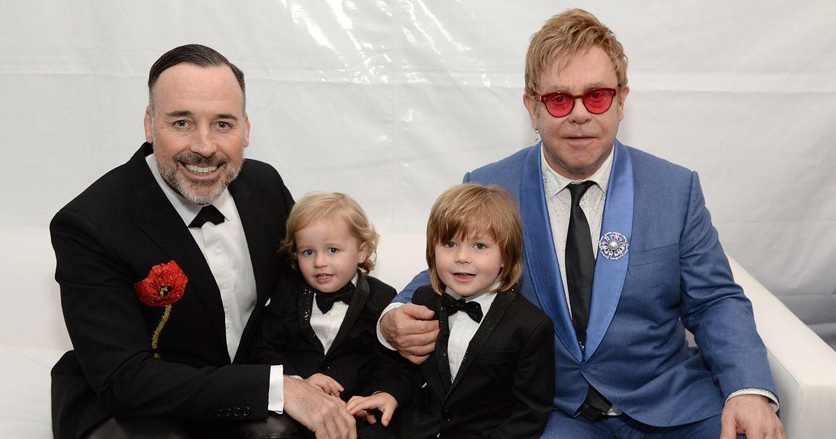 Elton John and family