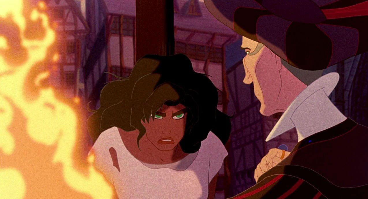 Esmeralda and Judge Claude Frollo
