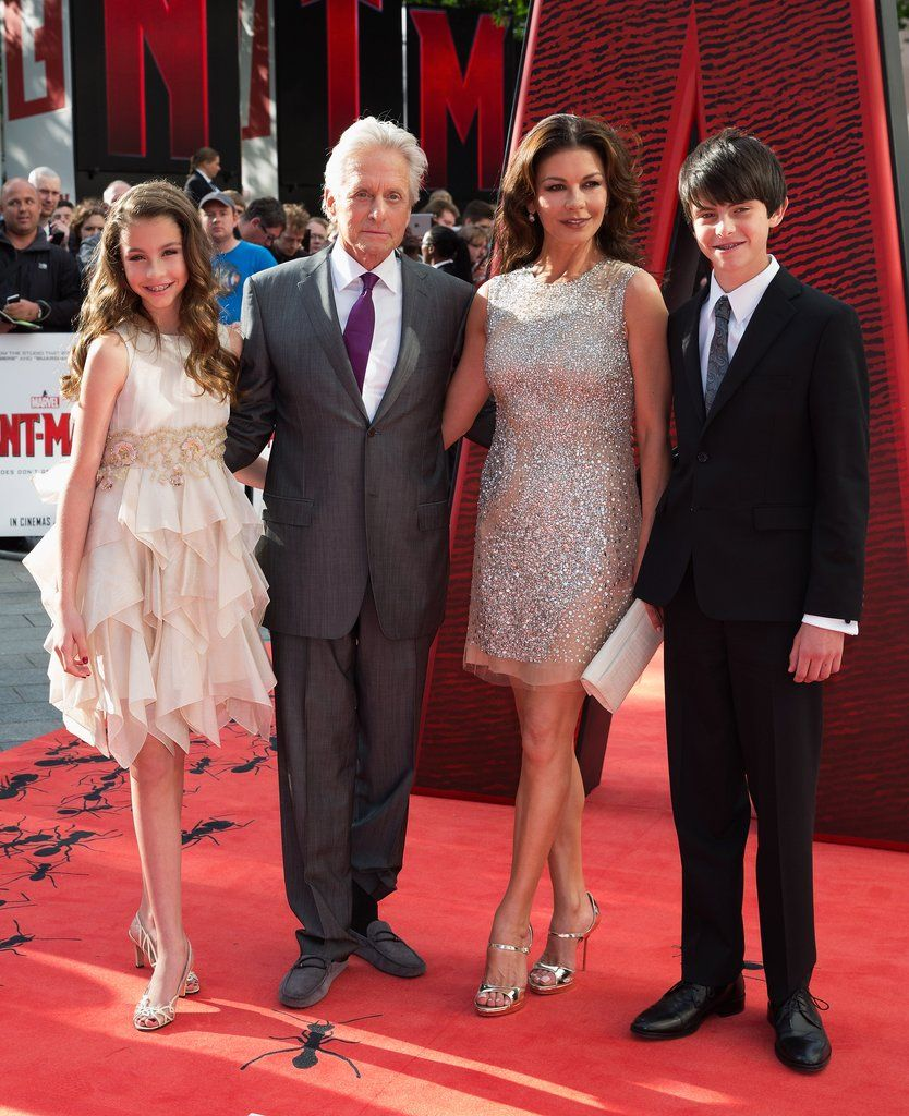 Michael Douglas, Catherine Zeta-Jones and kids