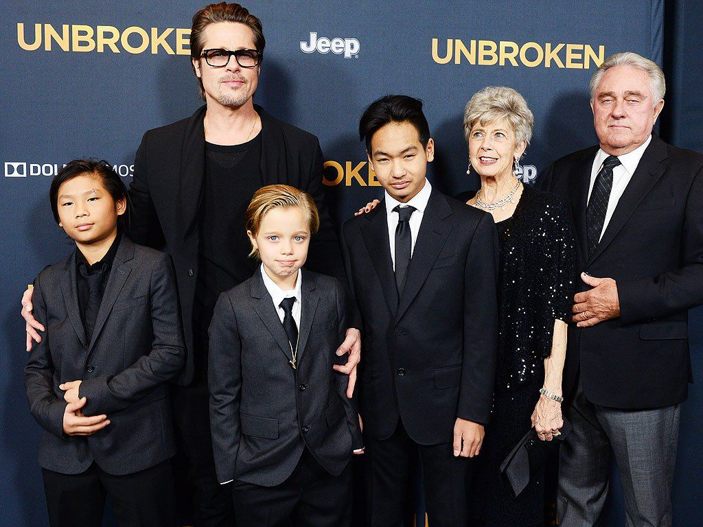 Brad Pitt and his family